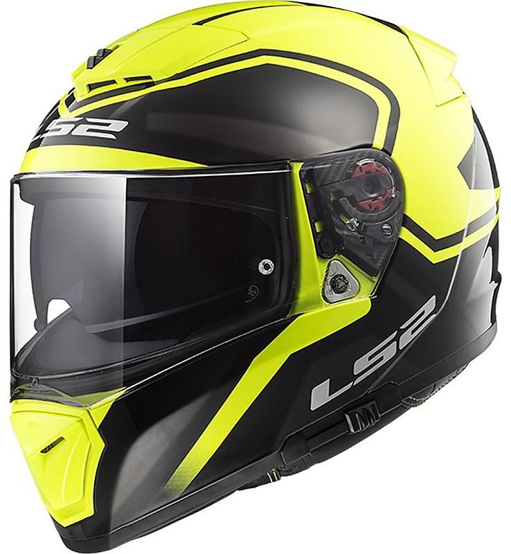 casco integrale per moto ls2 ff390 breaker bold nero giallo fluo