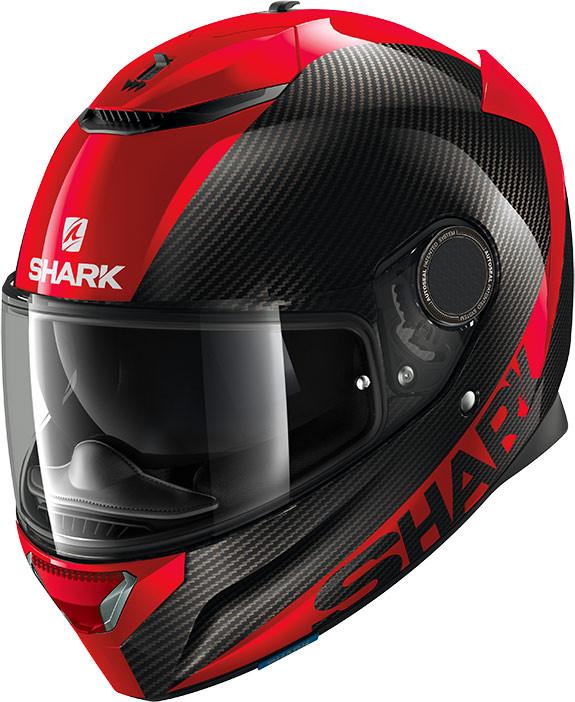 casco integrale shark spartan carbon 1.2 rosso nero in carbonio