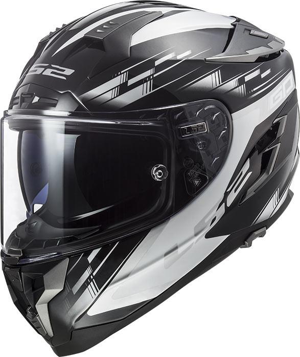 casco ls2 ff327 challenger in fibra bianco nero