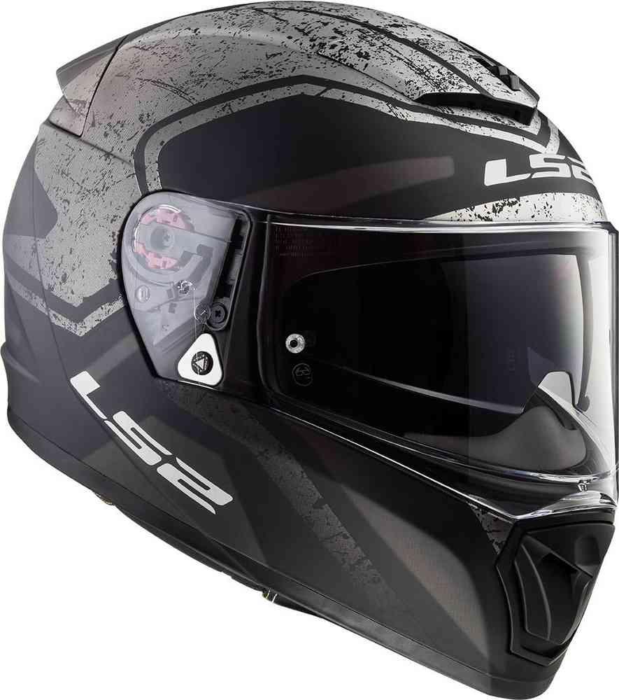casco ls2 ff390 breaker bold nero bianco grigio