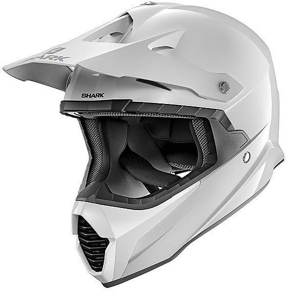 casco per moto da cross enduro in fibra shark varial bianco opaco