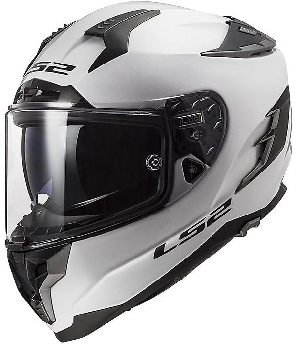 casco per moto in fibra ls2 ff327 challenger solid bianco nero