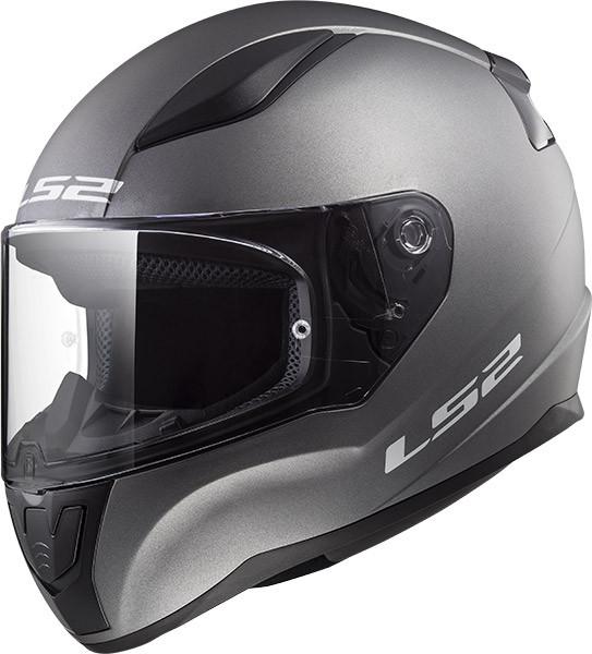 casco per moto ls2 ff353 rapid singole mono titanio opaco