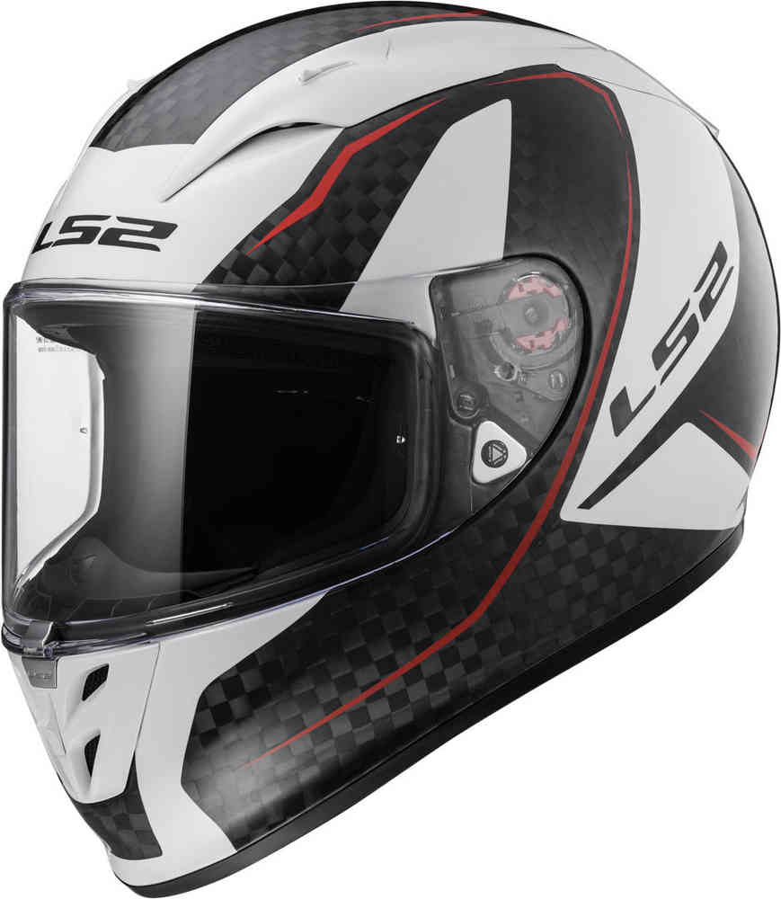 ls2 ff323 casco integrale arrow c evo fury carbon bianco nero