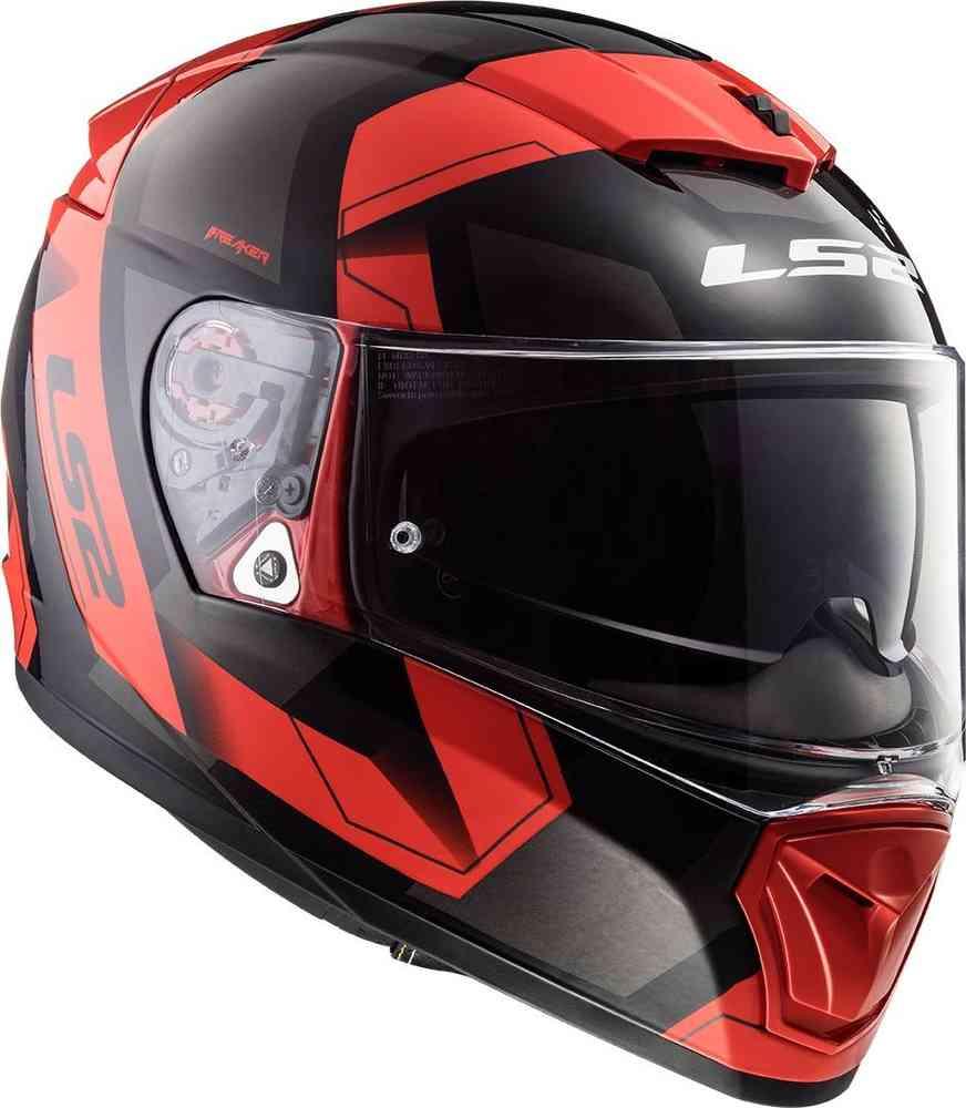 ls2 ff390 casco integrale breaker physics nero rosso