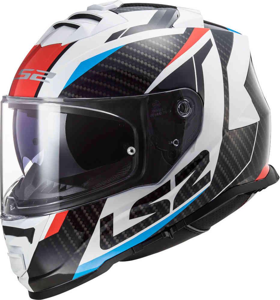 ls2 ff800 storm racer casco nero bianco rosso