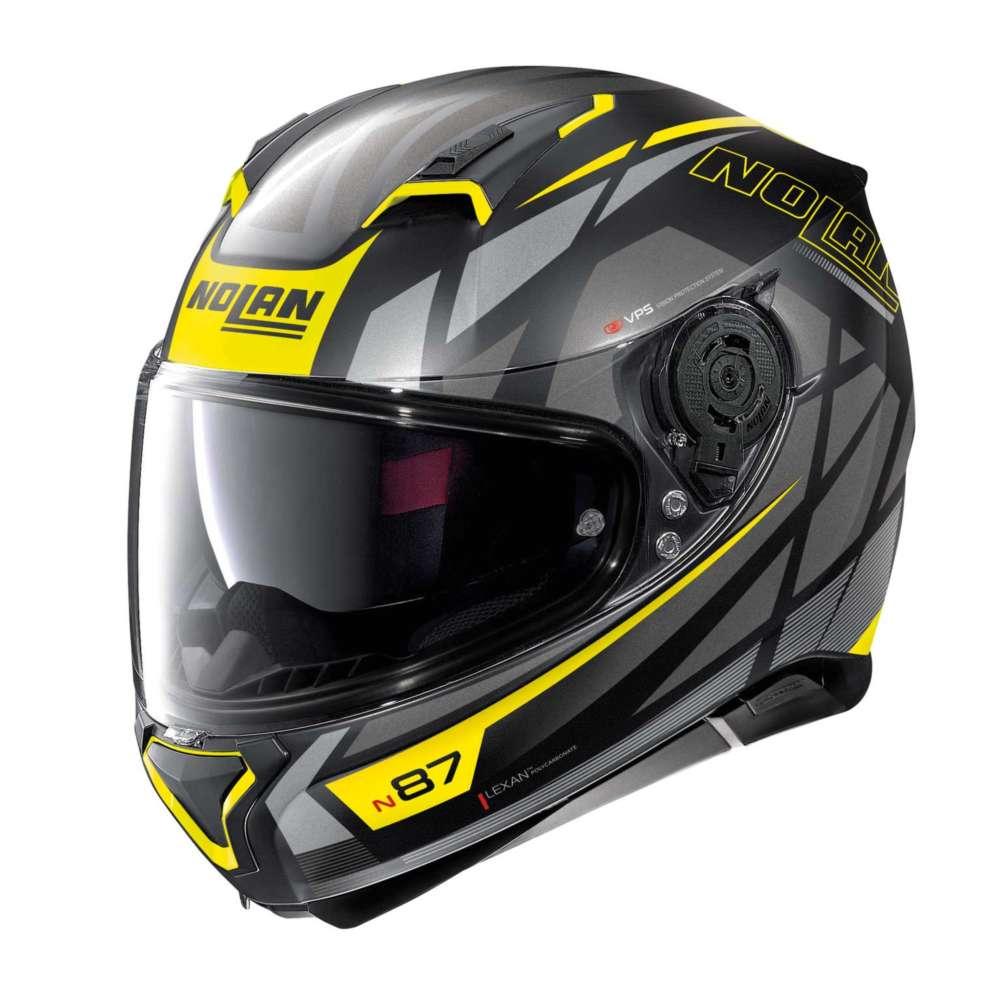 nolan n87 originality n-com nero giallo grigio