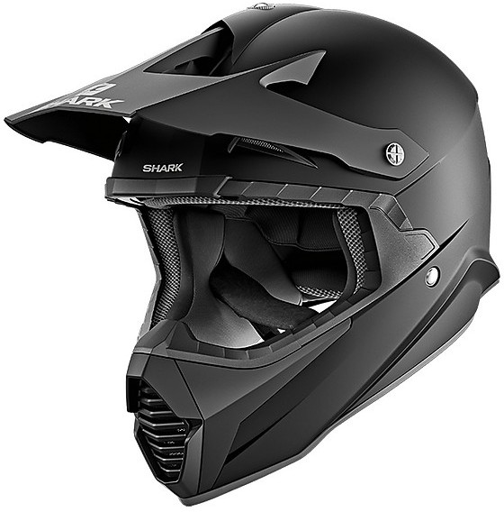 shark varial casco per moto da cross enduro nero opaco