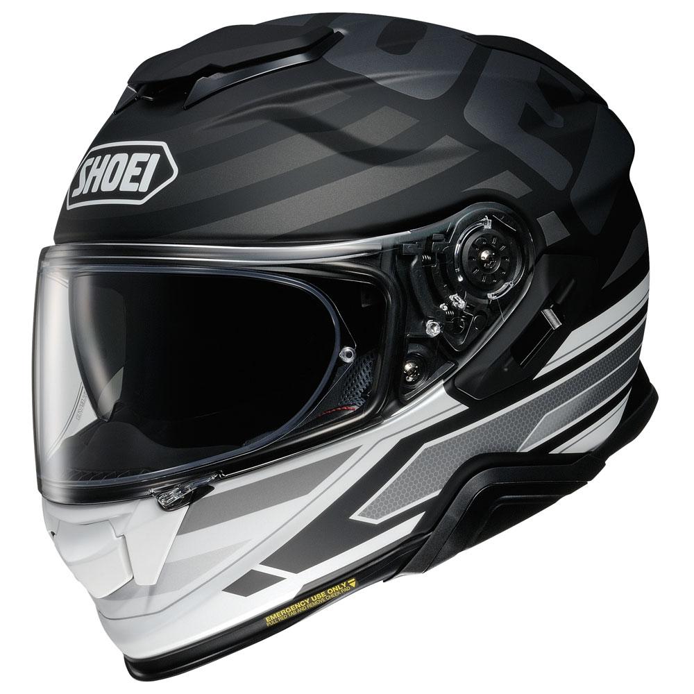 casco integrale shoei gt air 2 insignia tc-5 nero bianco grigio