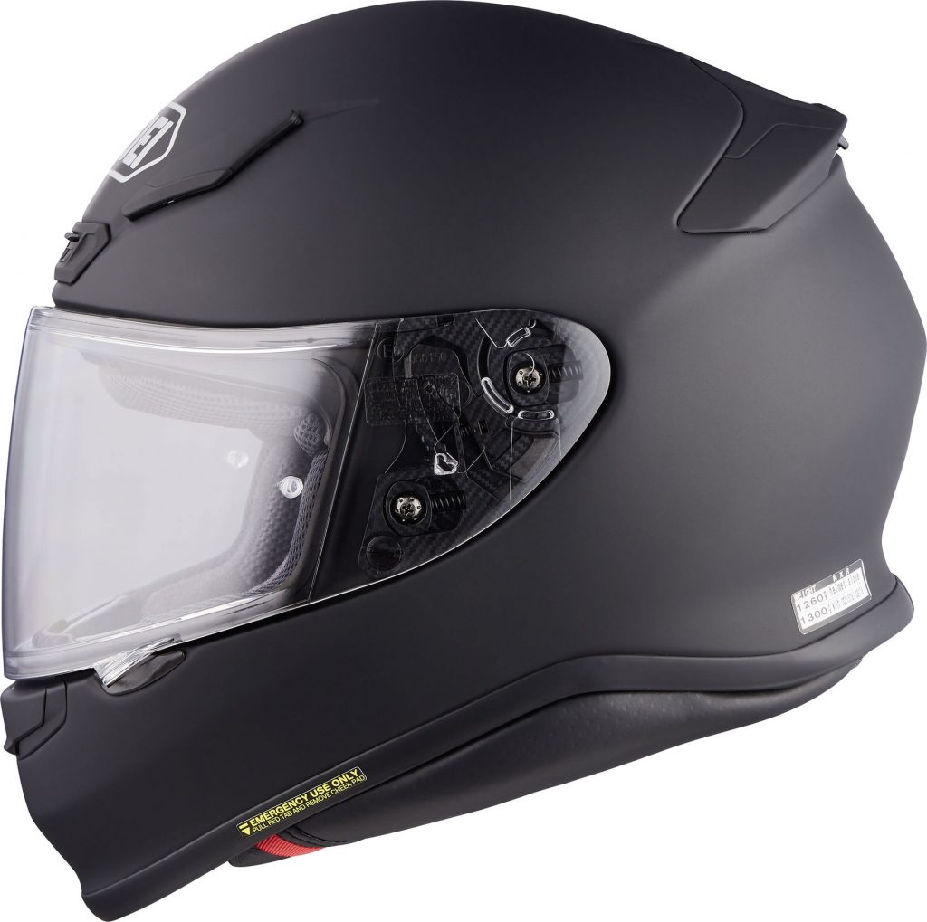 casco integrale shoei nxr nero opaco