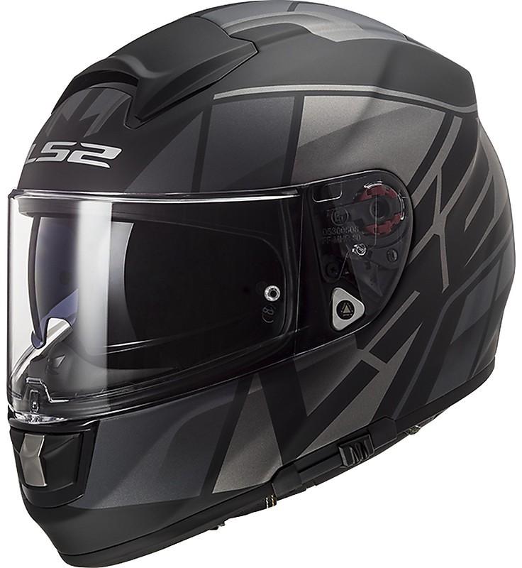 casco per moto in fibra ls2 ff397 vecotr kripton nero titanio grigio