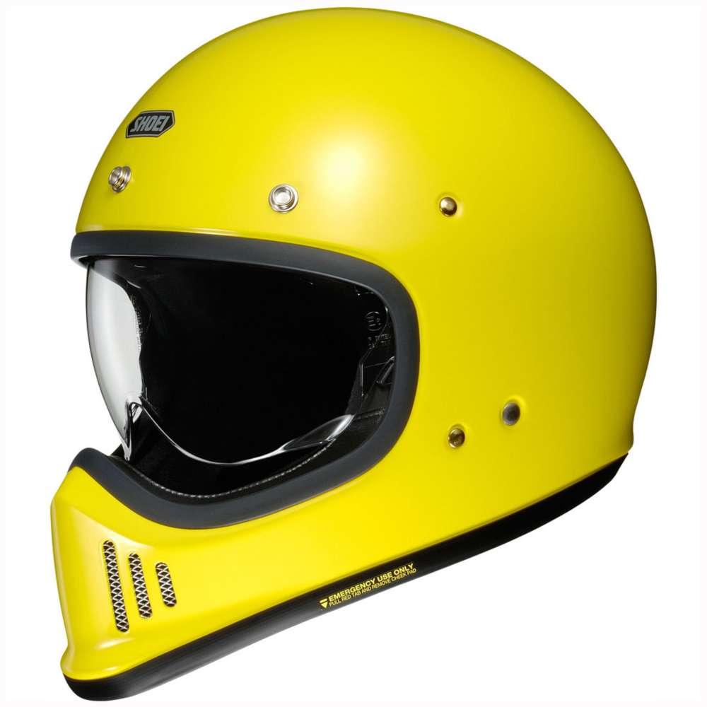 casco shoei ex-zero giallo
