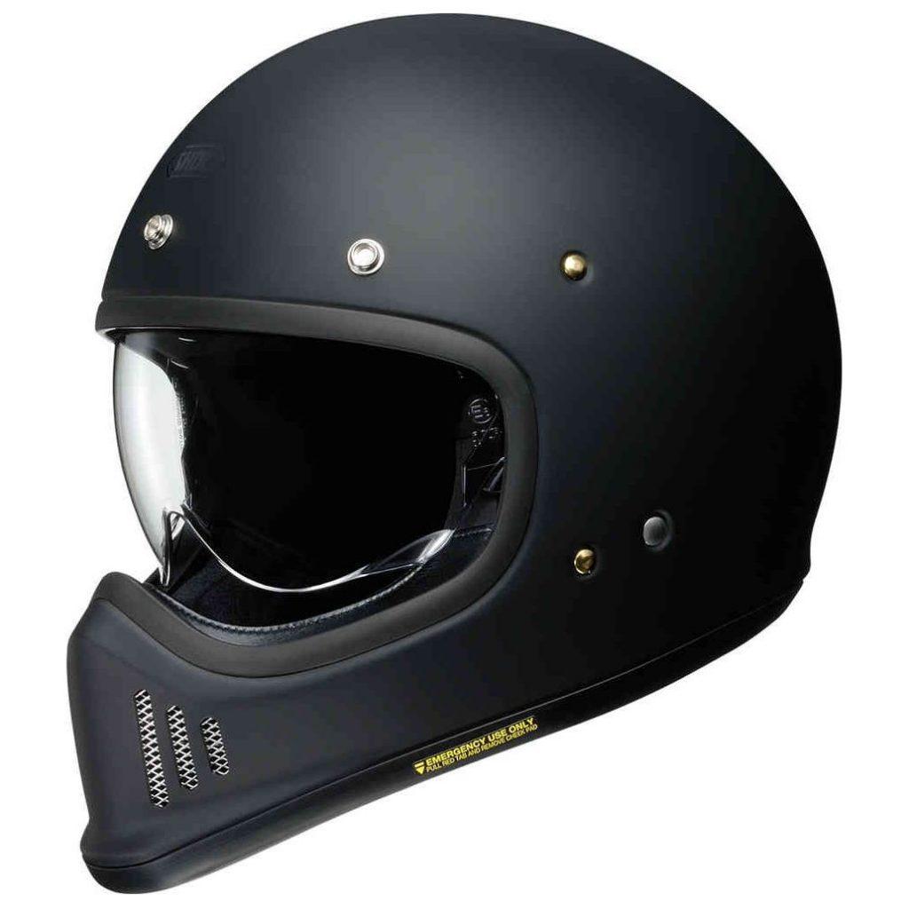 casco shoei ex-zero nero opaco