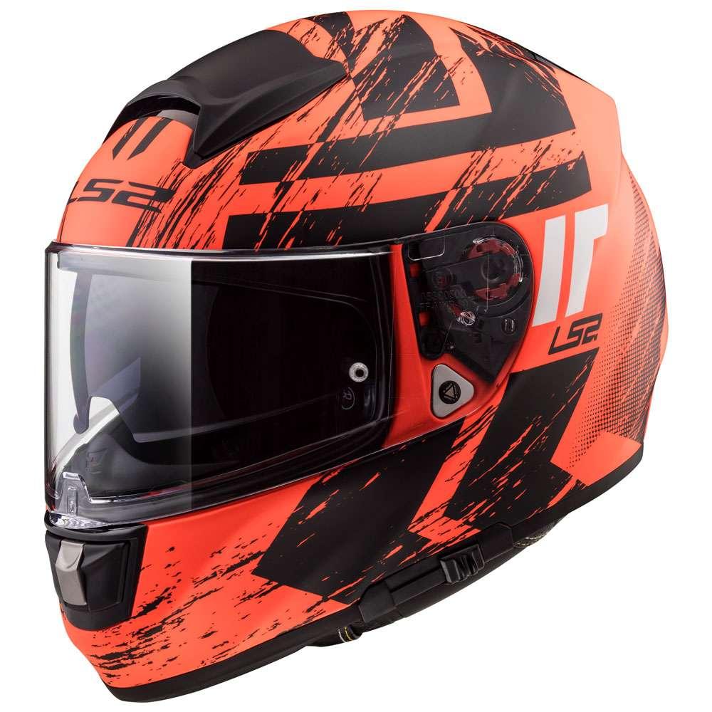 ls2 ff397 vector evo hunder nero arancione matte