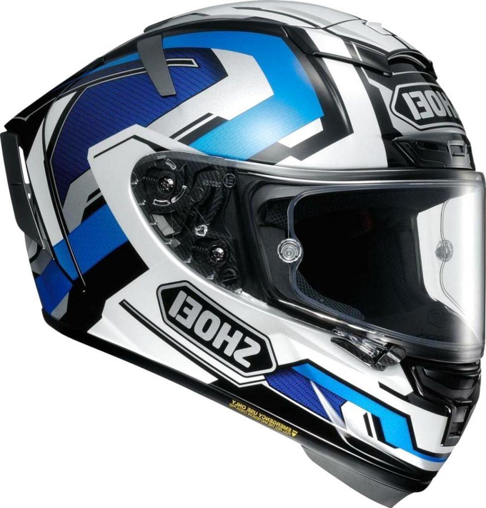 casco integrale shoei x-spirit 2 azzurro blu bianco