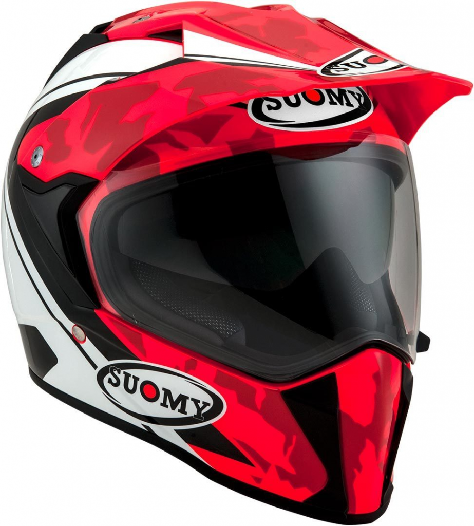 casco integrale suomy mx tourer red desert