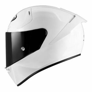 casco integrale suomy sr-gp pearl full white bianco