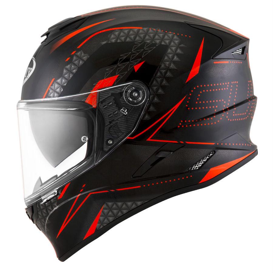 casco integrale suomy stellar shade nero rosso
