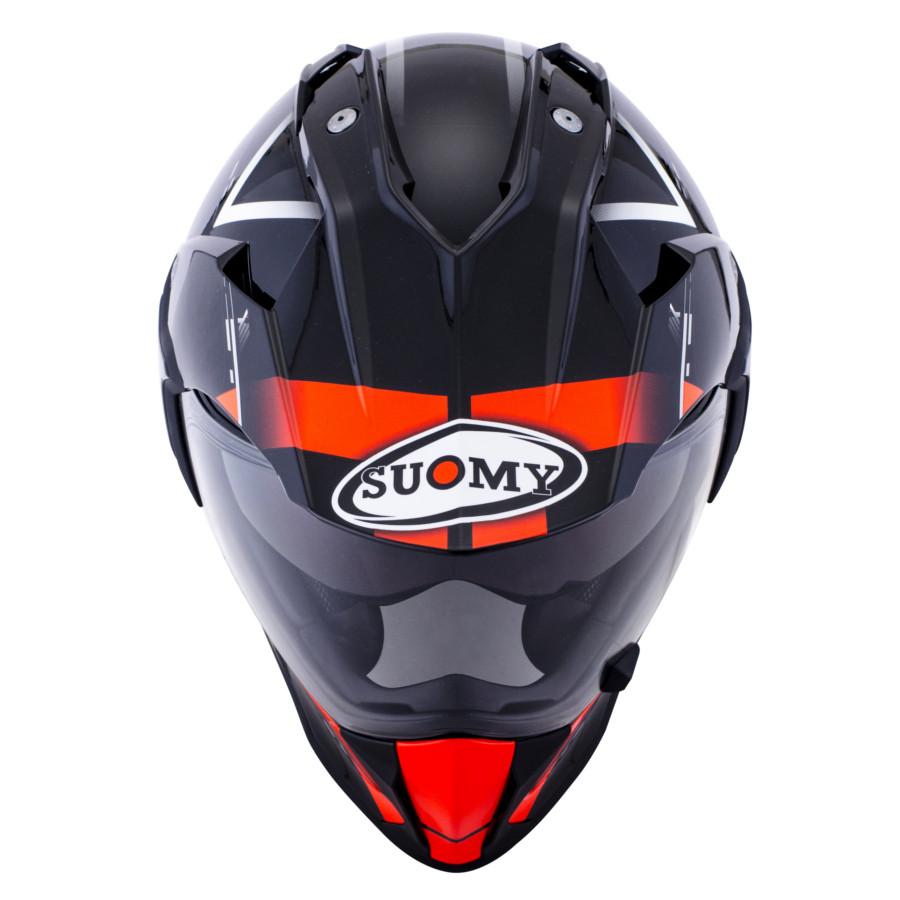 casco suomy mx tourer nero rosso