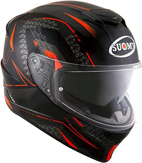 suomy stellar shade nero rosso casco integrale